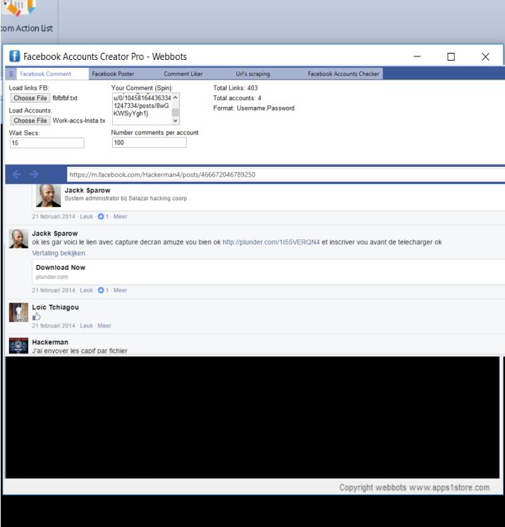 Bulk Facebook accounts creator tool | Automation Software | WebBots
